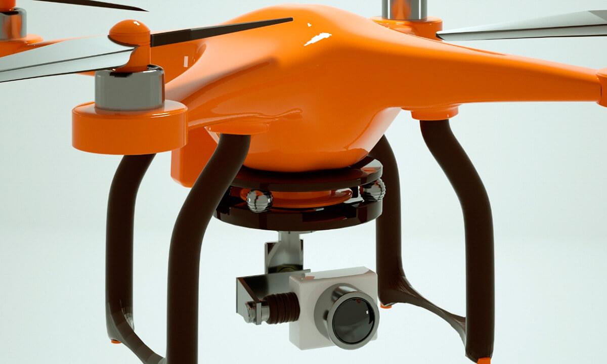 Diferentes ángulos del dron - lateral